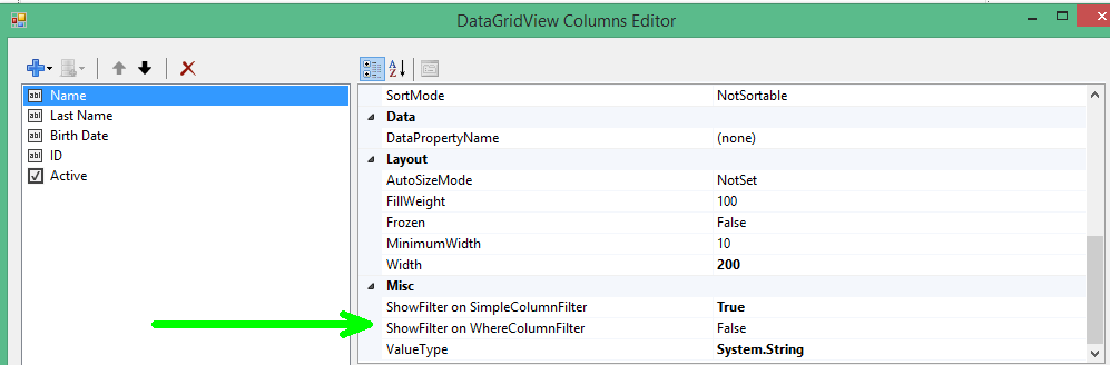 ColumnFilter – Filter your DataGridView rows with our new extension